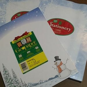 Other - NEW Winter Snow Letterhead 3 Pack 225ct